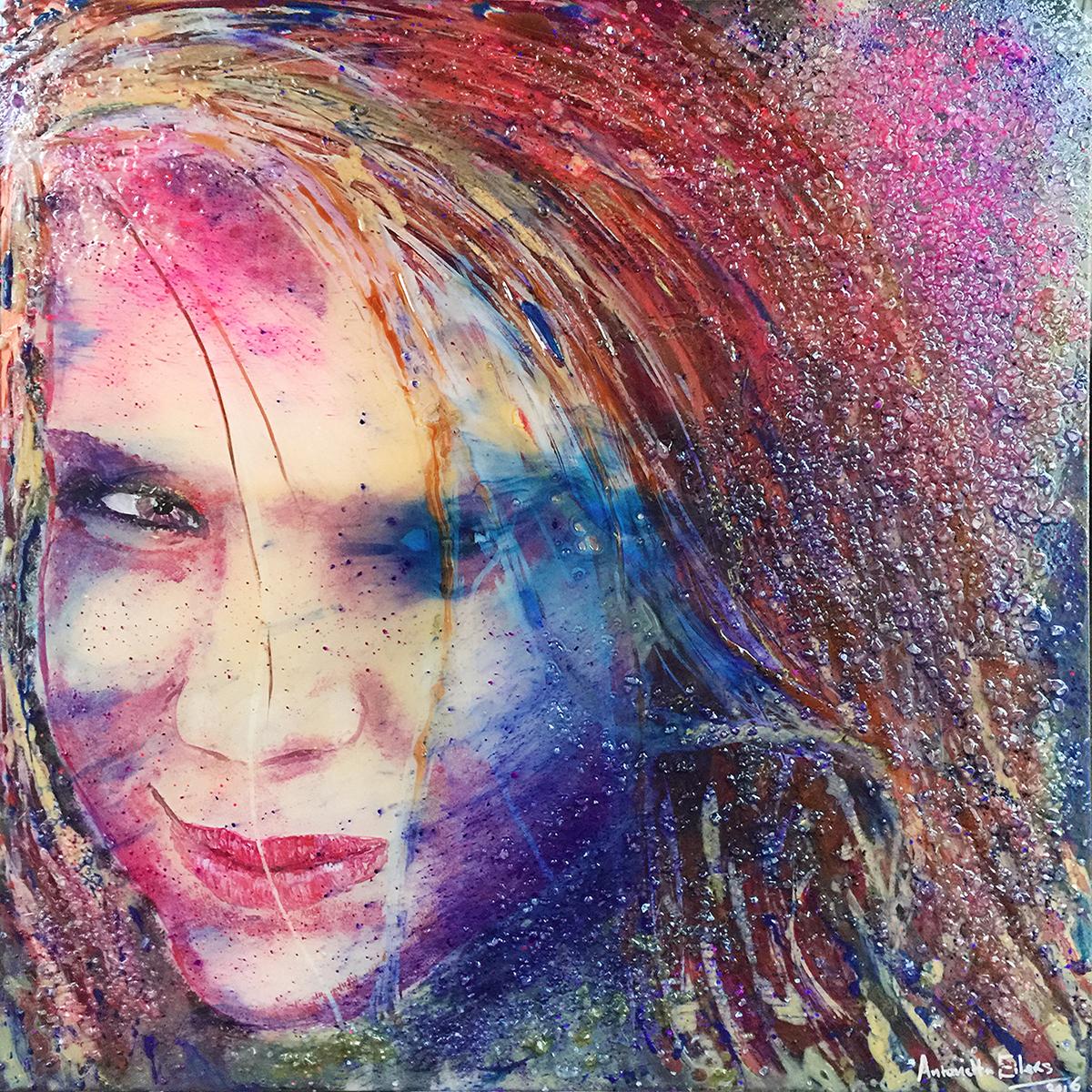 portretschilderij op plexiglas